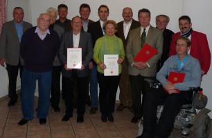 unsere treuen Mitglieder Ehrungen 2012