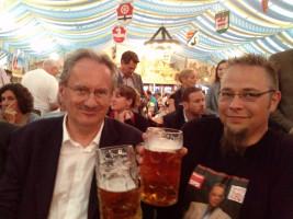 """""""unser"""" Bezirkstagskandidat Marc Schenk bei Christian Ude"""
